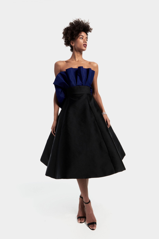 19e7c1d07e1a Short Strapless Faille Dress With Full Skirt - raveitsafe
